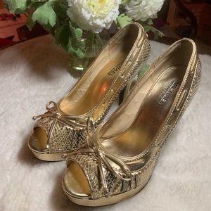 Michael Kors metallic gold high heels